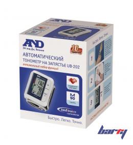 Тонометр на запястье, автоматический A&D UB-202