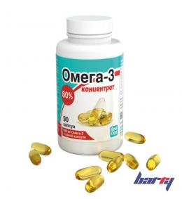 """Биологически активная добавка к пище """"Омега-3 концентрат 60%"""" 90 капсул (по 500 мг)"""